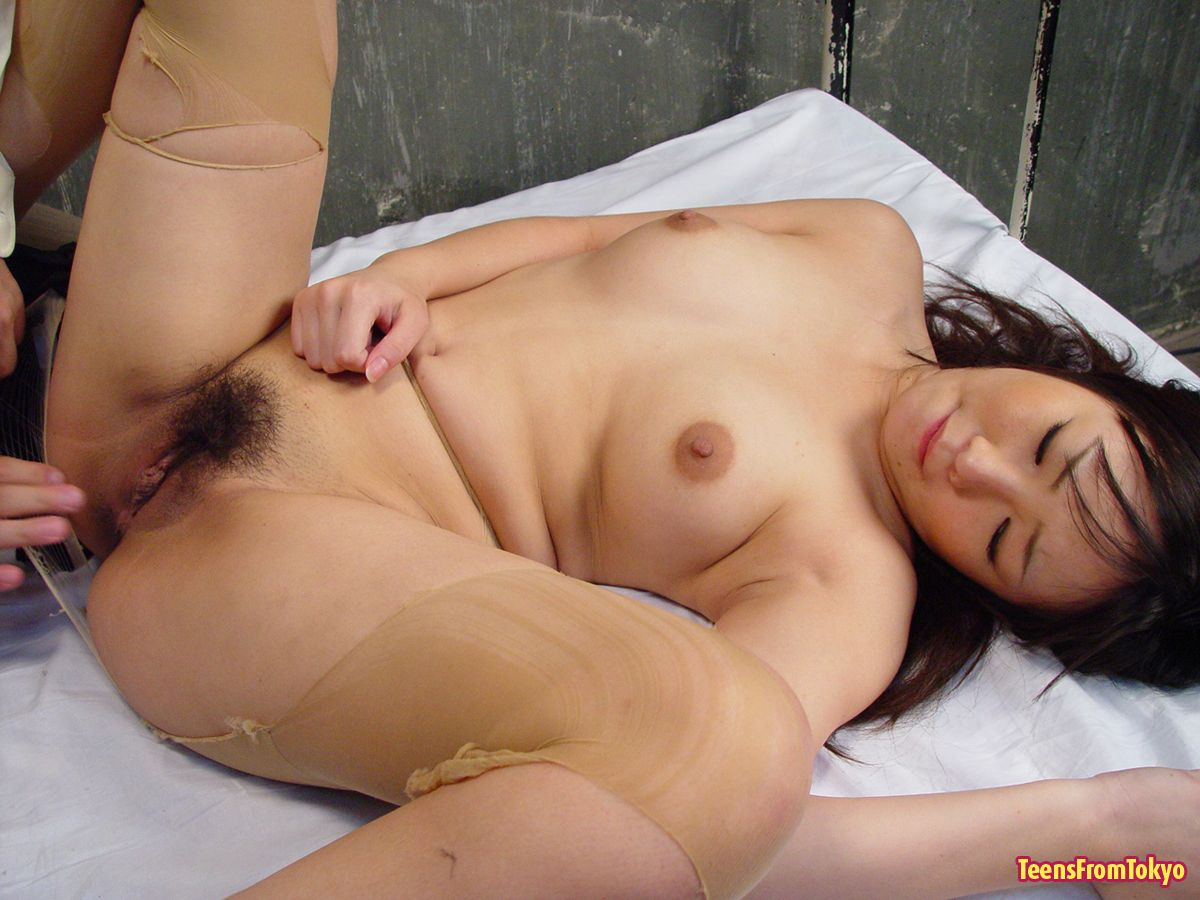 Asian hairy pussy creampie