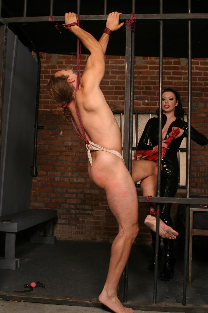 saskae tied up nude